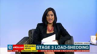 Stage 3 Load Shedding For Tuesday