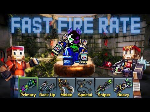 Fast Fire Rate Weapons - Pixel Gun 3D