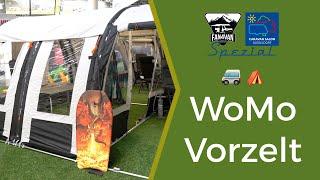 Wohnmobil Vorzelt freistehend und aufblasbar - Neuigkeiten vom Caravan Salon