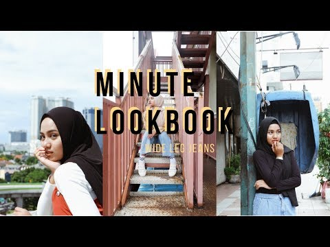 minute lookbook: wide leg jeans (street)