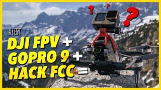 DJI FPV DRONE + GOPRO 9 + HACK FCC = CRASH TEST !