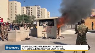 Iran-Backed Militia Attacks U.S. Embassy in Iraq