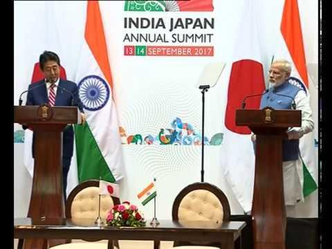 PM Modi & Japanese PM Shinzo Abe at Joint Press Statement