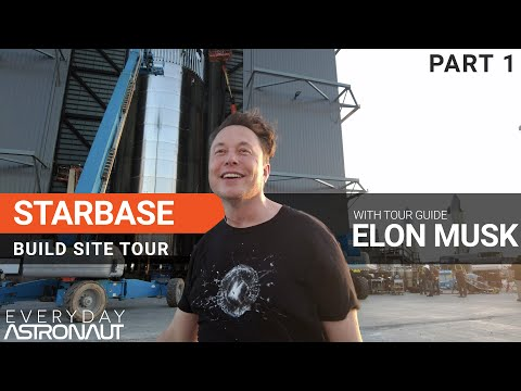 Starbase build site tour with Elon Musk