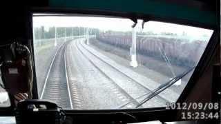 Электровоз ЧС200, пьяный чуть не попал под поезд