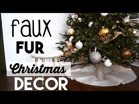 Christmas Decorating Faux Fur DIYs | Tree Skirt DIY