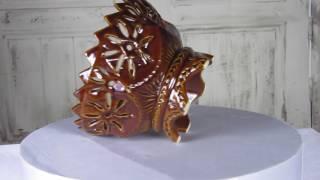 Brown Ceramic Vintage Cookie Jar, Serving Patterned Bowl Decor, Decor Bowl For Candy, Candy Jar