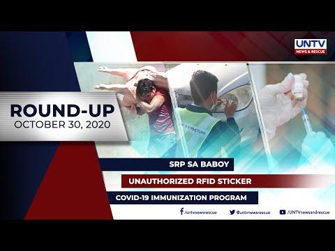 [UNTV]  UNTV NEWS ROUNDUP: Mga balitang dapat mong malaman (October 30, 2020)