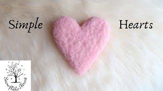 FELTED HEART Simple Tutorial
