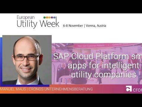 SAP Cloud Platform @ EUW 2018 - smart apps for Intelligent utility companies - Manuel Maus   cronos