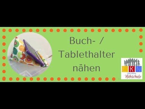 Buch/Tablethalter nähen