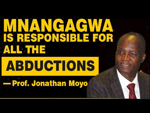"""Mnangagwa is the architect of all state sponsored abductions,"" says Prof Jonathan Moyo – VIDEO"