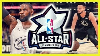 nba all star game 2018  nba 2k18 vs nba live 18  deutsch   german