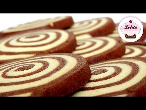 Receta de galletas de chocolate y vainilla en forma de espiral | Galletas de chocolate paso a paso