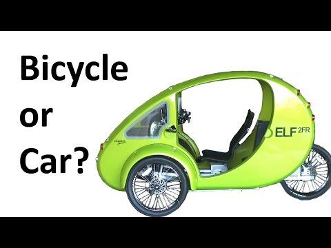 CAR vs BICYCLE: Organic Transit ELF 2FR - Velomobile / Passenger E-Bike