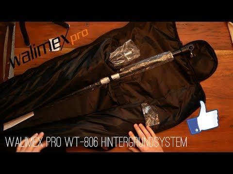Unboxing/Review zum Walimex Pro WT-806 Lampenstativ, Teleskop Hintegrundsystem und mehr (german)