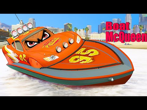 GTA V Mods | Lightning McQueen Boats (GTA 5 Mods)