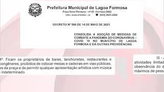 Patos Já - Após aumento de casos em Lagoa Formosa, prefeitura publica decreto com regras mais rígidas