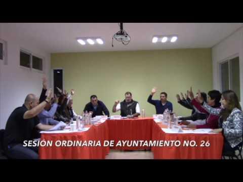 Sesión Ordinaria No. 26 de Ayuntamiento 29 de noviembre de 2016