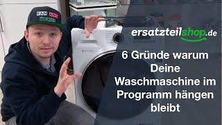 Waschmaschine hängt im Programm - Fehleranalyse