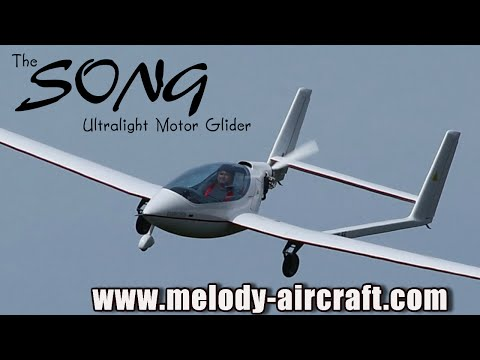 Song ultralight aircraft motor glider from Melody Aircraft