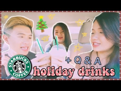 ✨🎄THỬ STARBUCKS HOLIDAY DRINKS 🎅🏽 + Q&A: Nên Mang Gì Đi Du Học, Khó Khăn Khi Đi Du Học | Diane Le