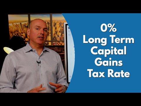 Zero Percent Long Term Capital Gains Tax rate