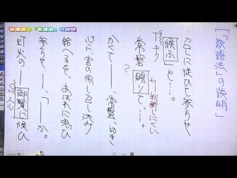 佐藤の「神ワザ」古文 #013 知識8 「敬語」の説明
