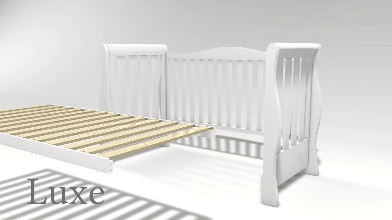 Obaby Stamford Luxe Cot Bed in White