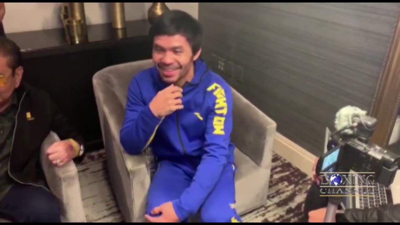 Manny Pacquiao Grand Arrival Ceremony Interview – Pacquiao vs Broner