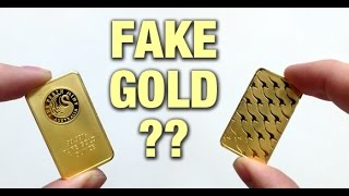 Detecting Fake Gold Perth Mint bars