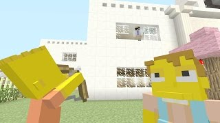 Minecraft Xbox - The Simpsons Series - BART SHOOTS HIS TEACHER [1]