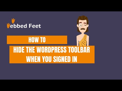 How to Hide the WordPress Toolbar When You Signed in
