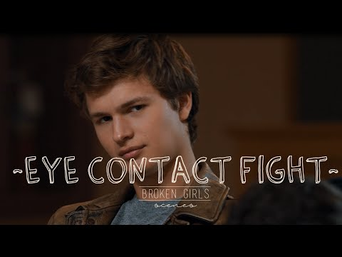 The Fault In Our Stars - Eye Contact Fight (Scene)