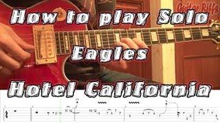 """Смотреть онлайн Как играть соло """"Hotel California"""" на электрогитаре"""