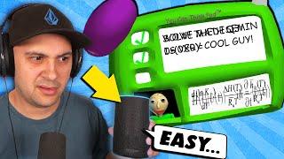 Can My Amazon Echo SOLVE Baldi's IMPOSSIBLE Question?   Baldi's Basics