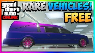 """GTA 5 Online: STORE RARE CARS FOR FREE! - Romero Hearse """"Funeral Car"""" 100% Spawn Location! 1.43/1.29"""