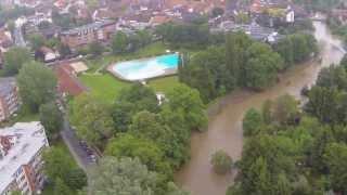 preview picture of video 'Hochwasser Sarstedt Innerste 29.05.2013 Teil 2'