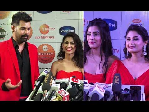 Kumkum Bhagya Cast Shabbir Ahluwalia, Sriti Jha & others at Zee Rishtey Awards 2019 Shudh Manoranjan