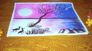 Moonlight Painting Easy ฟร ว ด โอออนไลน ด ท ว ออนไลน คล ป