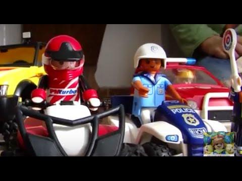 Playmobil POLICE VS quad CROSS