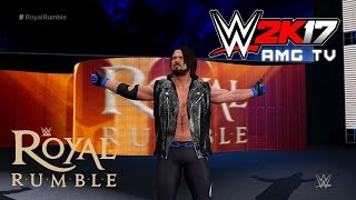 WWE 2K17 - AJ Styles Debuts at Royal Rumble 2016 (Recreation)