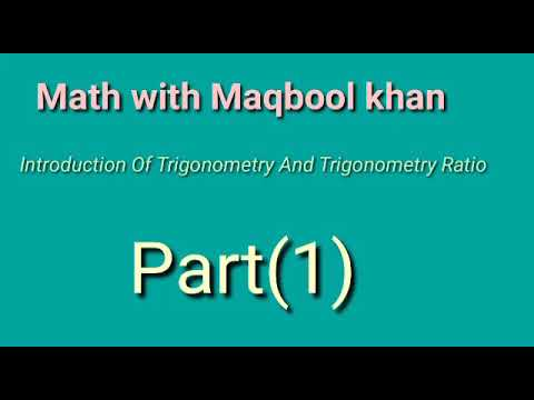 Introduction of trigonometry (MATH) part 1