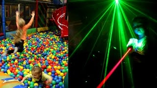 Indoor Playground Fun - Laser Tag Guns -  Sammie