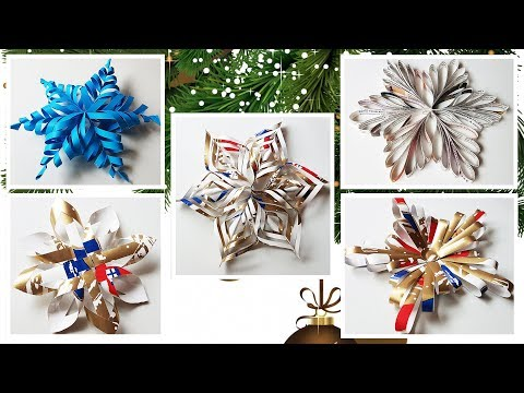 Five Ways to DIY winter decor ThreeD snowflakes