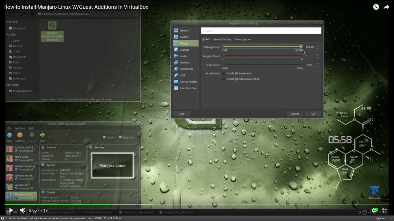 How to Install Manjaro Linux In VirtualBox W/Guest Additions