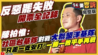 陳柏惟vs.刪Q罷免案直播開票過程!