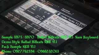 Sample S975   S970   S950 - Ballad 16Beats NKB V1.1 - Nam Keyboard   Sampler 2019