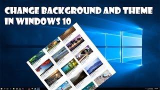 Change Background Theme Windows 10