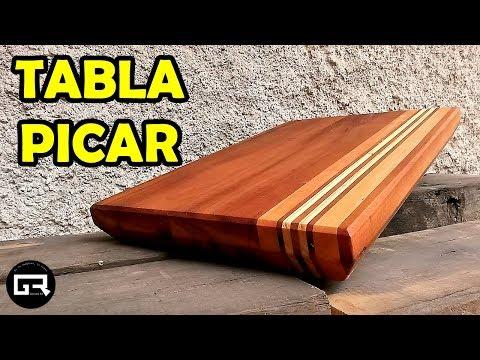 COMO HACER TABLA PARA PICAR [MADERA RECICLADA] CUTTING BOARD MAKING